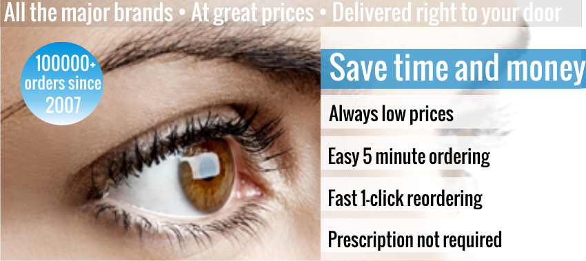 Contact lenses order online with a discount and save time and money