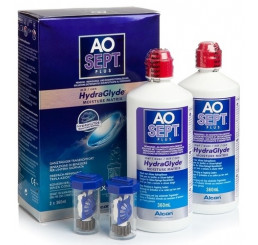 Aosept Plus Hydraglyde 2 x 360ml.