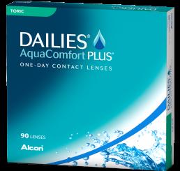 Dailies Aquacomfort Plus Toric (90) fra produsenten Alcon