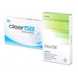 Clear 58 contact lenses