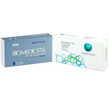 Biomedics 55 Evolution (6) contact lenses from the manufacturer  CooperVision in category EuEyewear b0a64f4a57b3