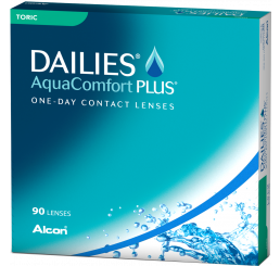 Dailies Aquacomfort Plus Toric (90) fra producenten Alcon